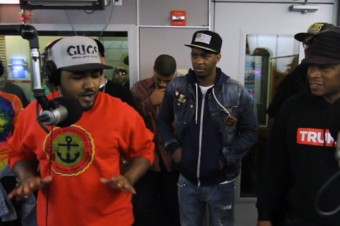 "Lyriciss Freestyles on ""Sway In The Morning"""