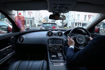 Jaguar Land Rover Reveals 360 Virtual Urban Windscreen and 'Follow-Me' Ghost Car Navigation