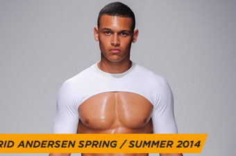 Introducing Astrid Andersen's male crop top