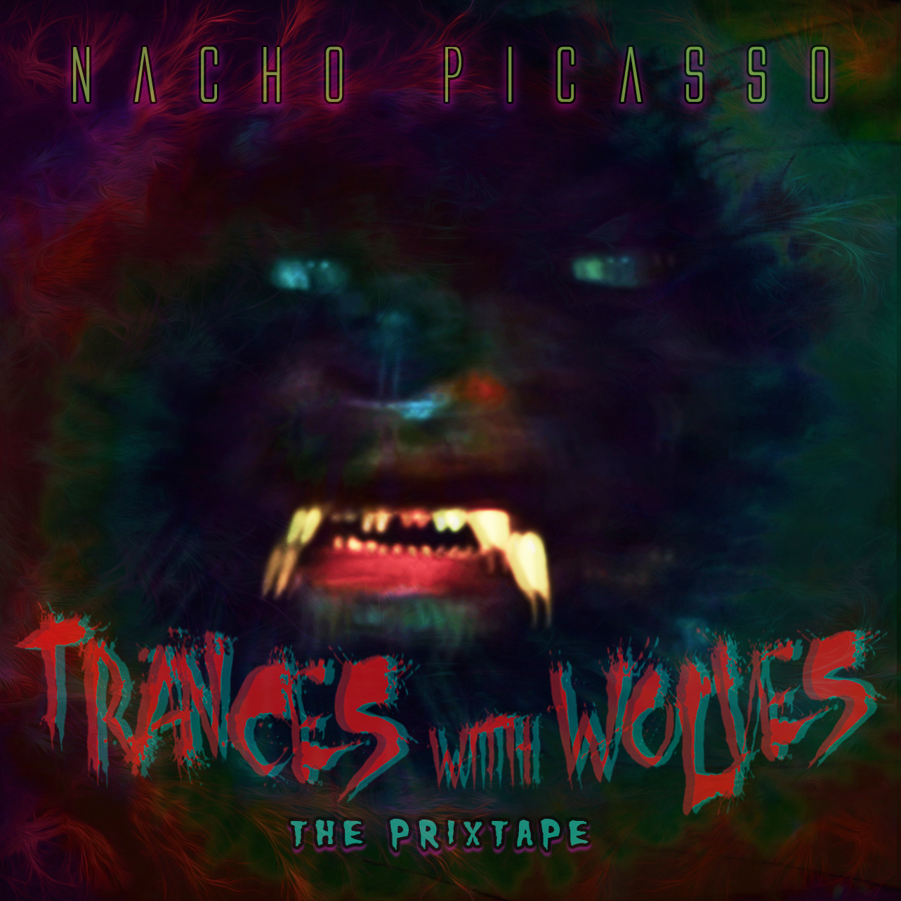 "Nacho Picasso's ""Trances With Wolves"" cover art"