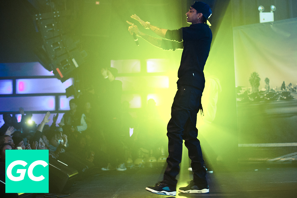 Nipsey Hussle performing at Highline Ballroom