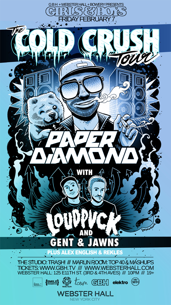 Paper Diamond's Cold Crush Tour flyer