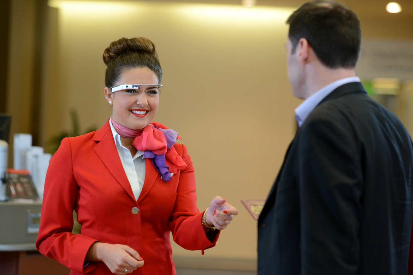 Virgin Atlantic x Google Glass