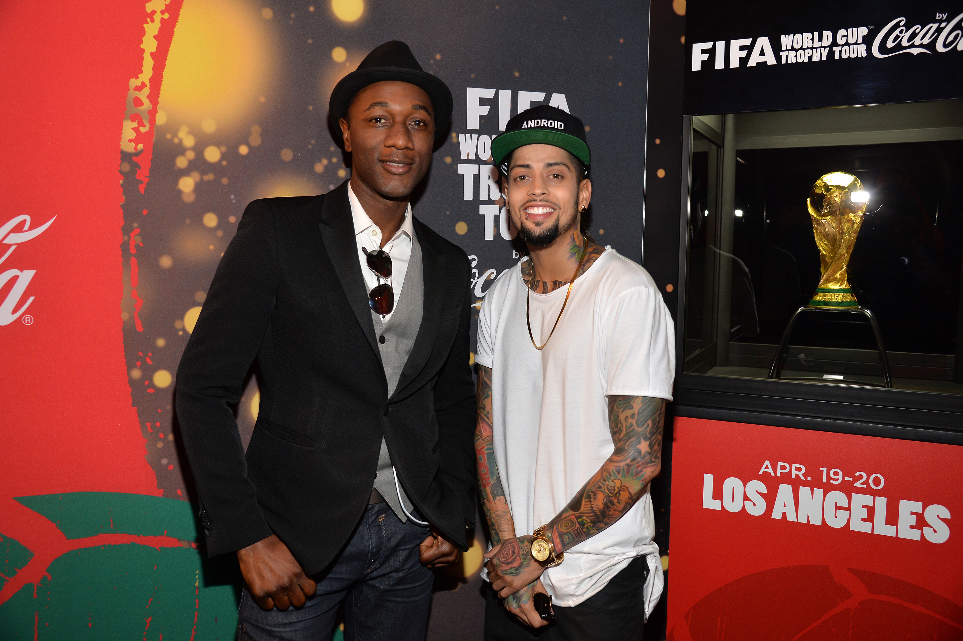Aloe Blacc, David Correy And Wisin Perform At The FIFA World Cup Trophy Tour By Coca-Cola In Los Angeles