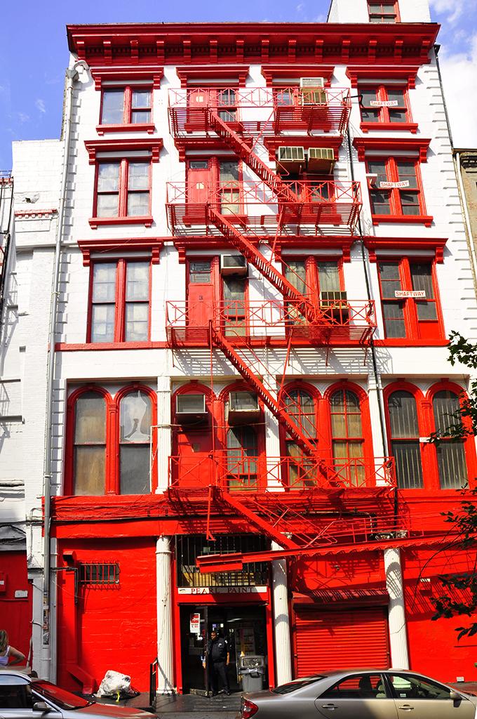 Pearl Paint exit on Lispenard Street by moon man82
