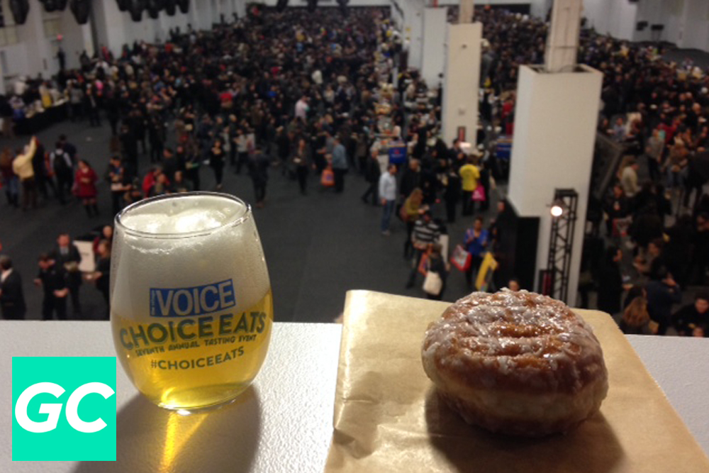 I took a minute to relax and gaze at the marvelous crowd with a Glimmerglass from Cooperstown's Ommegang Brewery (my favorite beer of the festival) and doughnut plant's coconut cream creation!