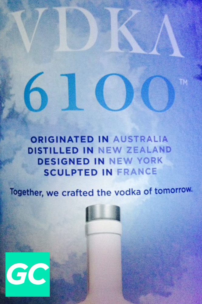 Greeted with quite the tagline. The vodka of tomorrow is apparently an adventurous one.