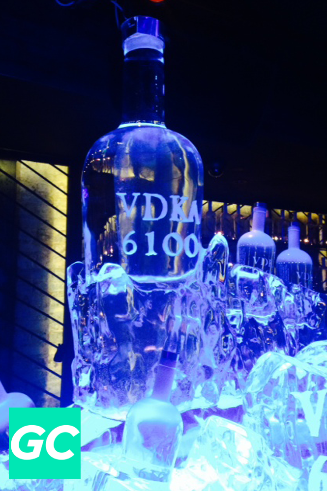 """The Vodka of Tomorrow"" towered over the party and brought good vibes to all."