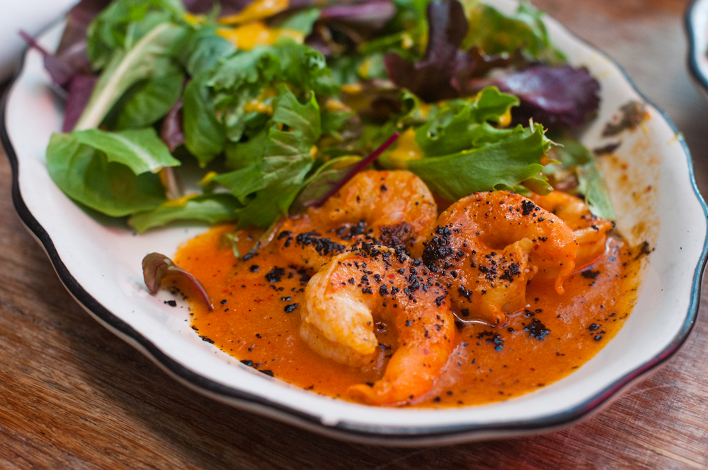 Shrimp. No words. Just admire the color of the sauce.