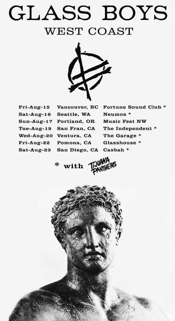 """Tijuana Panthers' """"Glass Boys"""" West Coast tour poster"""