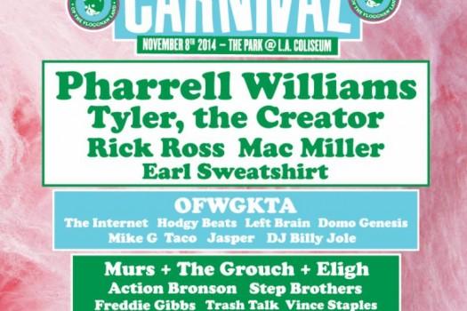 Pharrell Williams To Headline 3rd Annual Camp Flog Gnaw Carnival