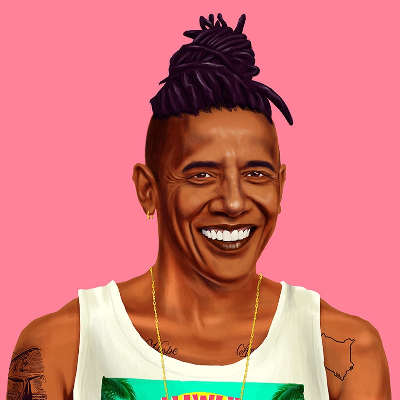 Barack Obama by Amit Shimoni