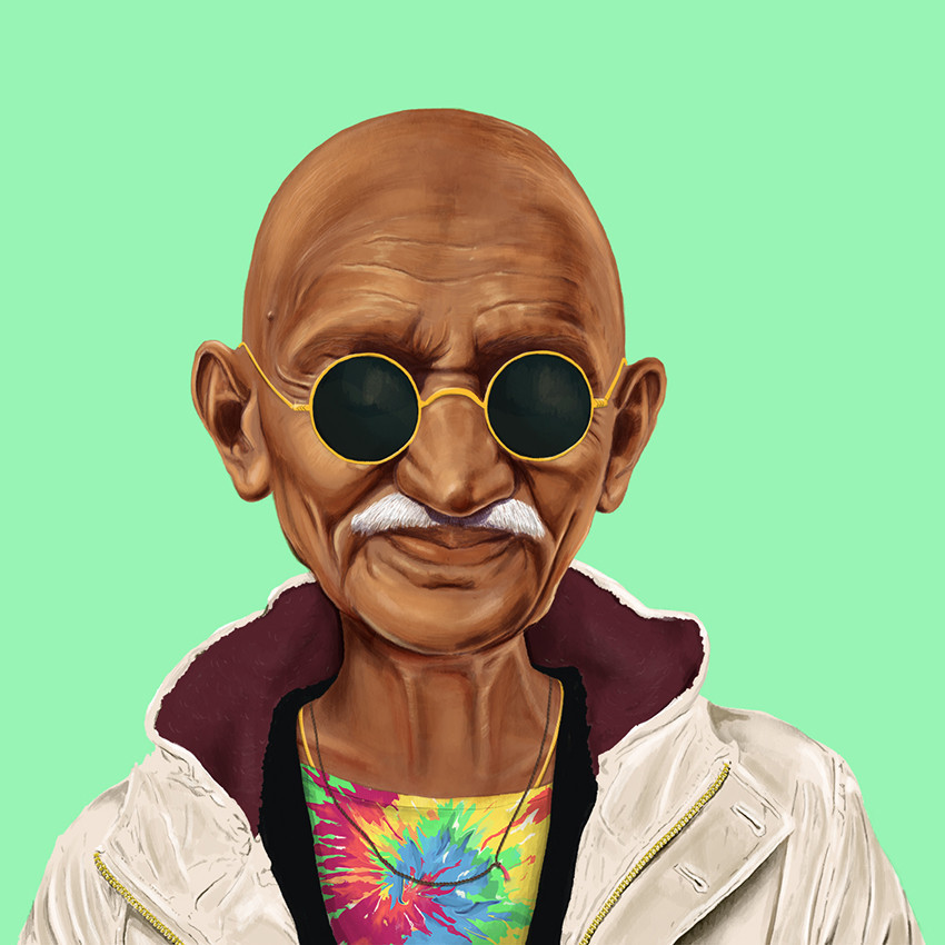 Mahatma Gandhi by Amit Shimoni