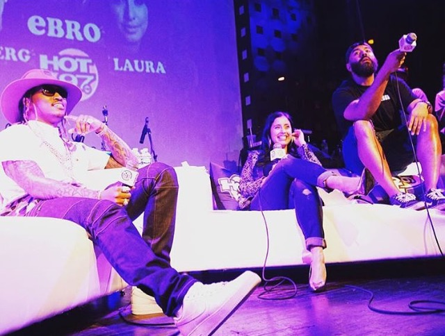 Future, Laura Stylez and Ebro (Hot 97) | Courtesy of Chantel J