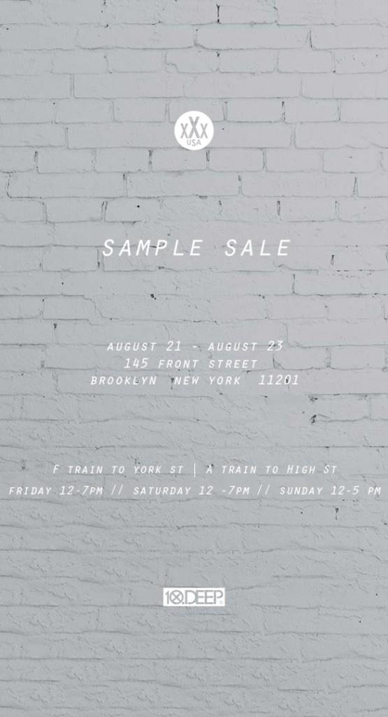10.DEEP Sample Sale