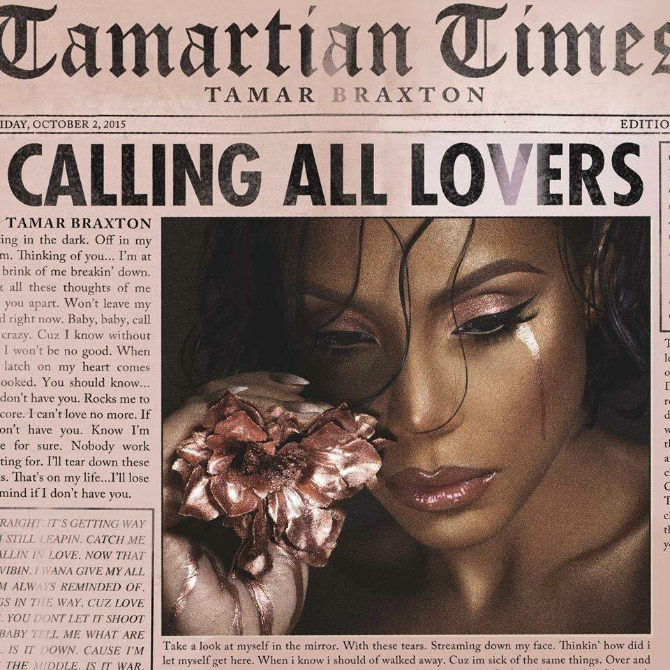 "Tamar Braxton's ""Calling All Lovers"" cover art"