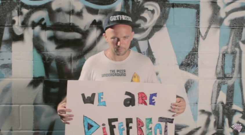 "Kosha Dillz in ""We Are Different"" music video"