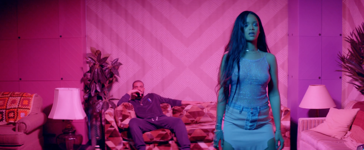 "Rihanna, Drake ""Work"" video screenshot"