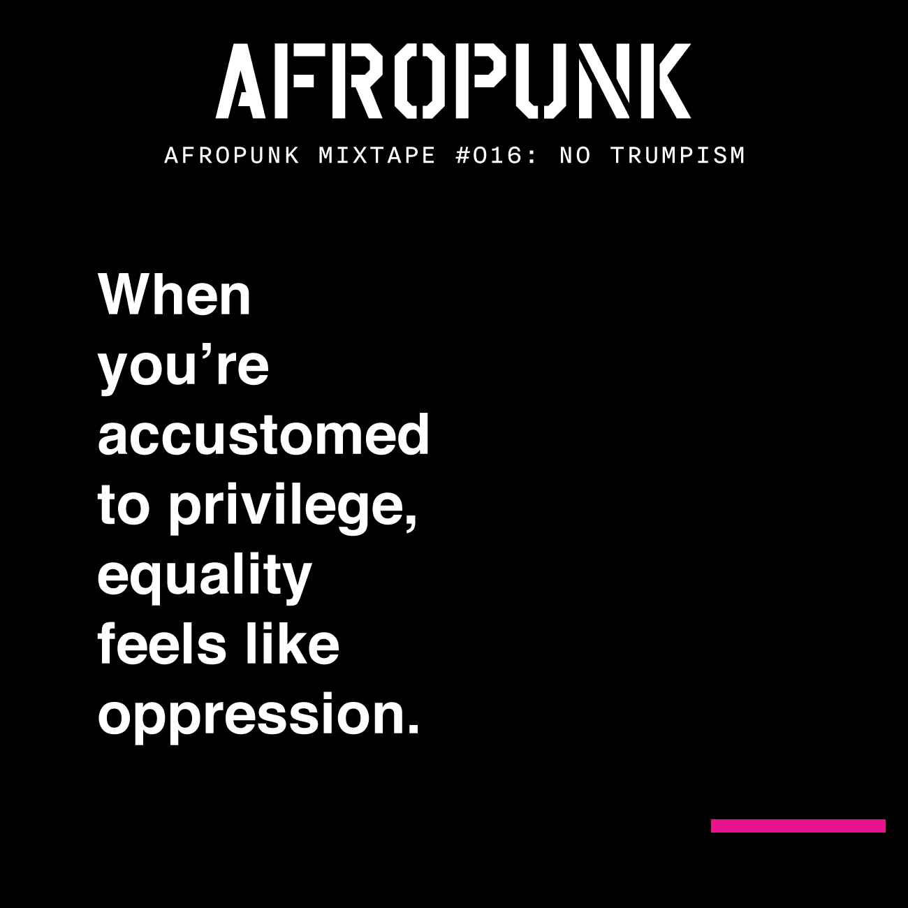 "AFROPUNK's ""No Trumpism"" cover art"