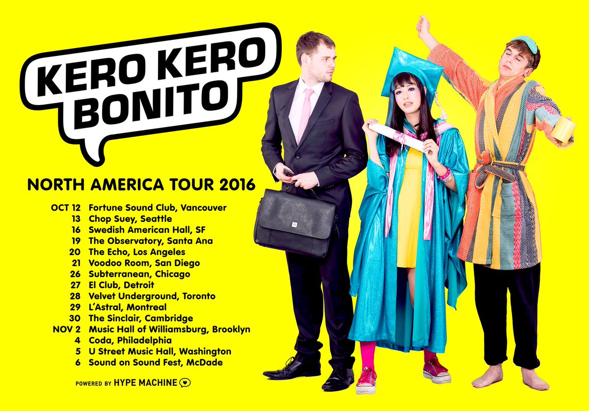 Kero Kero Bonito tour flyer