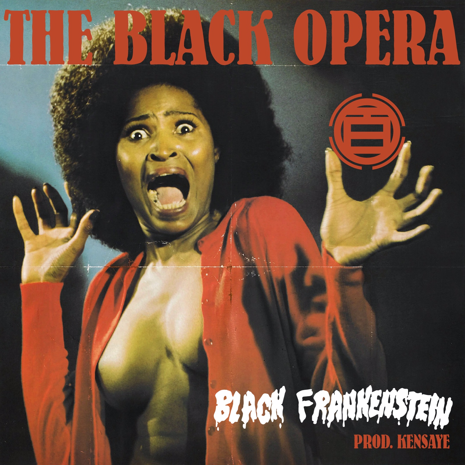 "The Black Opera's ""Black Frankenstein"" cover art"