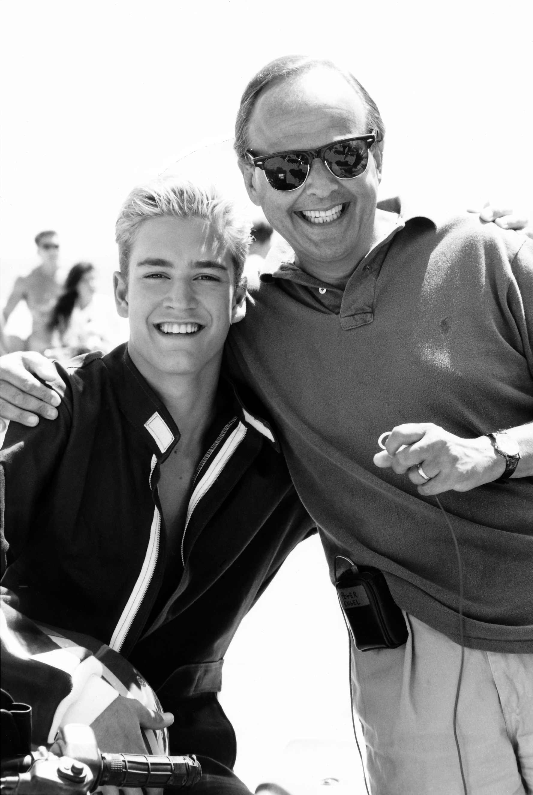 "Peter Engle with ""Zack Morris"" from Saved by the Bell"