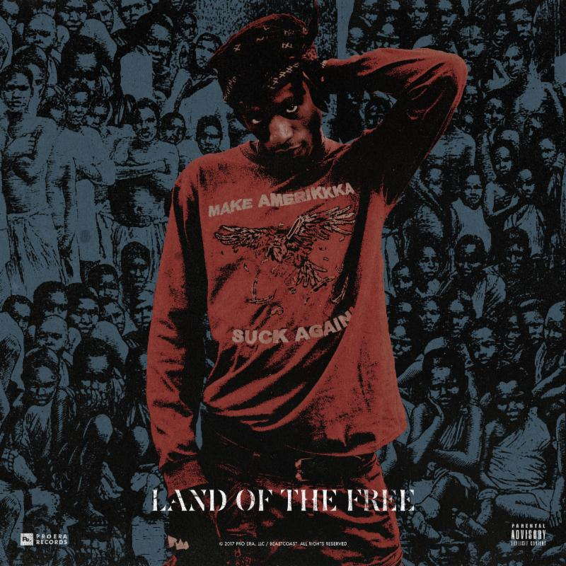 "Joey Bada$$'s ""Land of the Free"" cover art"