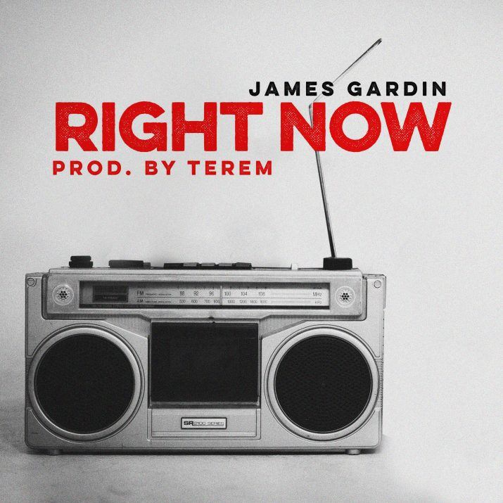 James Gardin's cover art for Right Now