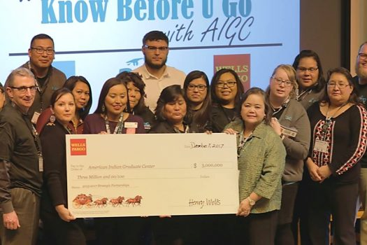 American Indian Graduate Center receives million dollar grant from Wells Fargo