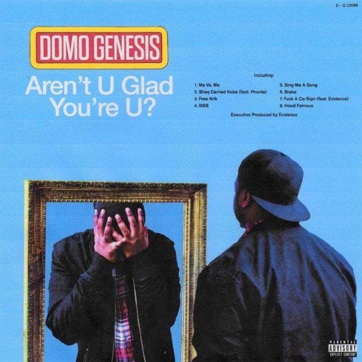 Domo Genesis' 'Aren't U Glad You're U?' cover art