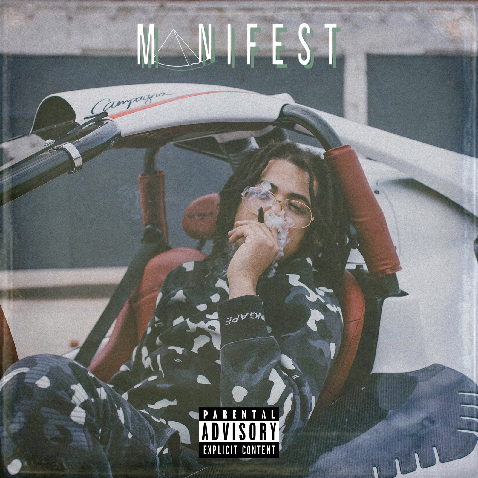"Lil Bizzy's cover art for ""Manifest"""