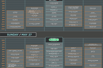 Movement Festival announces 2018 schedule and stages