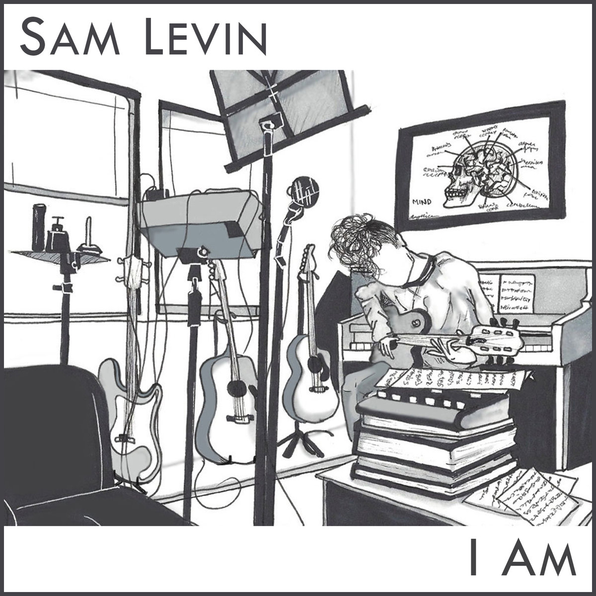 Sam Levin's cover art for 'I Am'