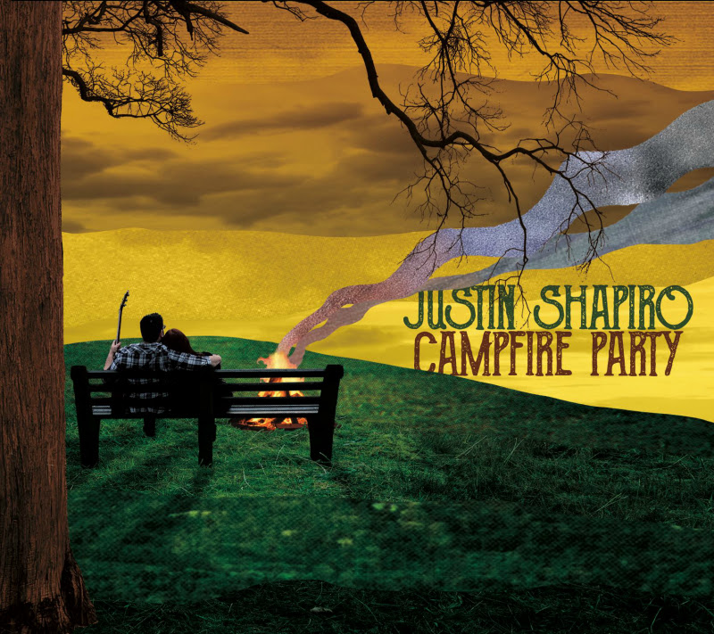 Justin Shapiro's cover art for 'Campfire Party'