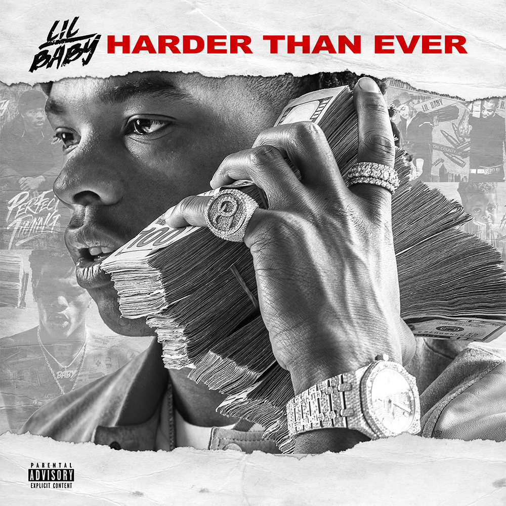 Lil Baby's cover art for 'Harder Than Ever'