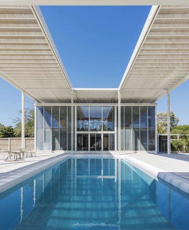 Sarasota Architectural Foundation - Umbrella pool shot